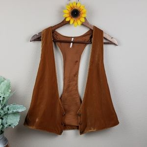 Boho free people hippie gypsy vest